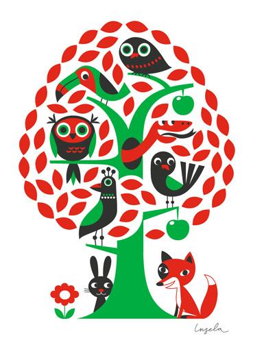 Baum Poster von Ingela P Arrhenius