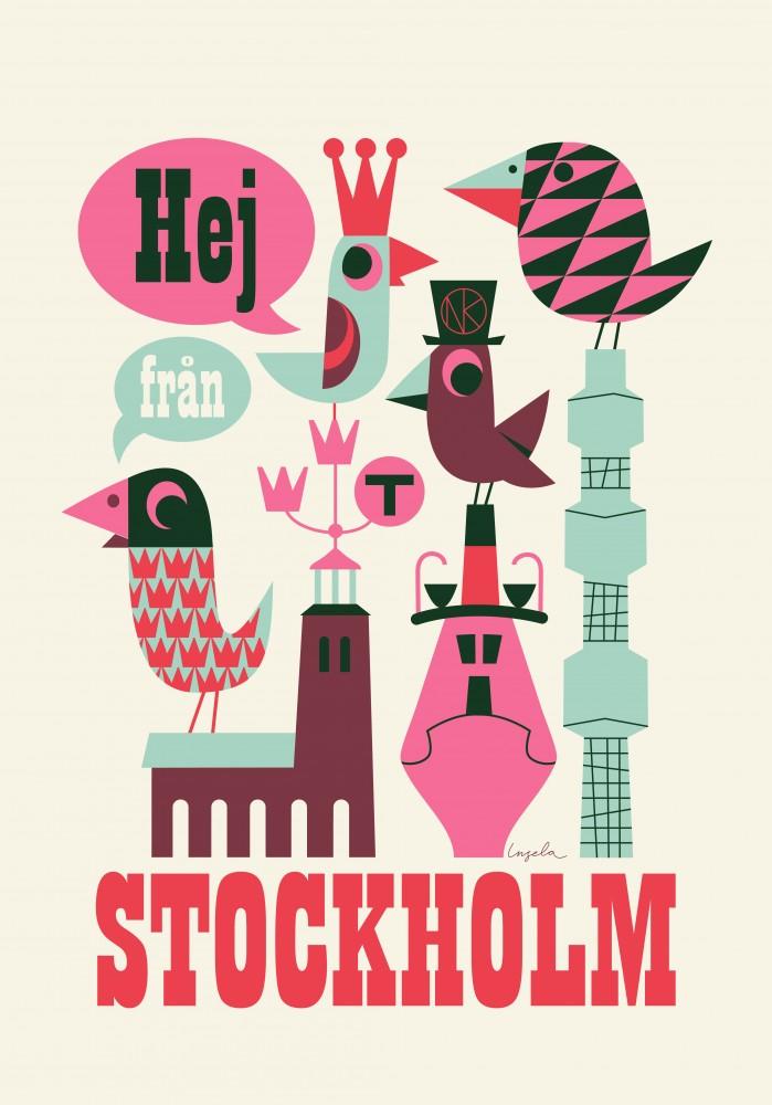 Retro Stockholm Poster von Ingela P Arrhenius