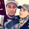 Pregnant Doutzen Kroes with Sunnery James and friends