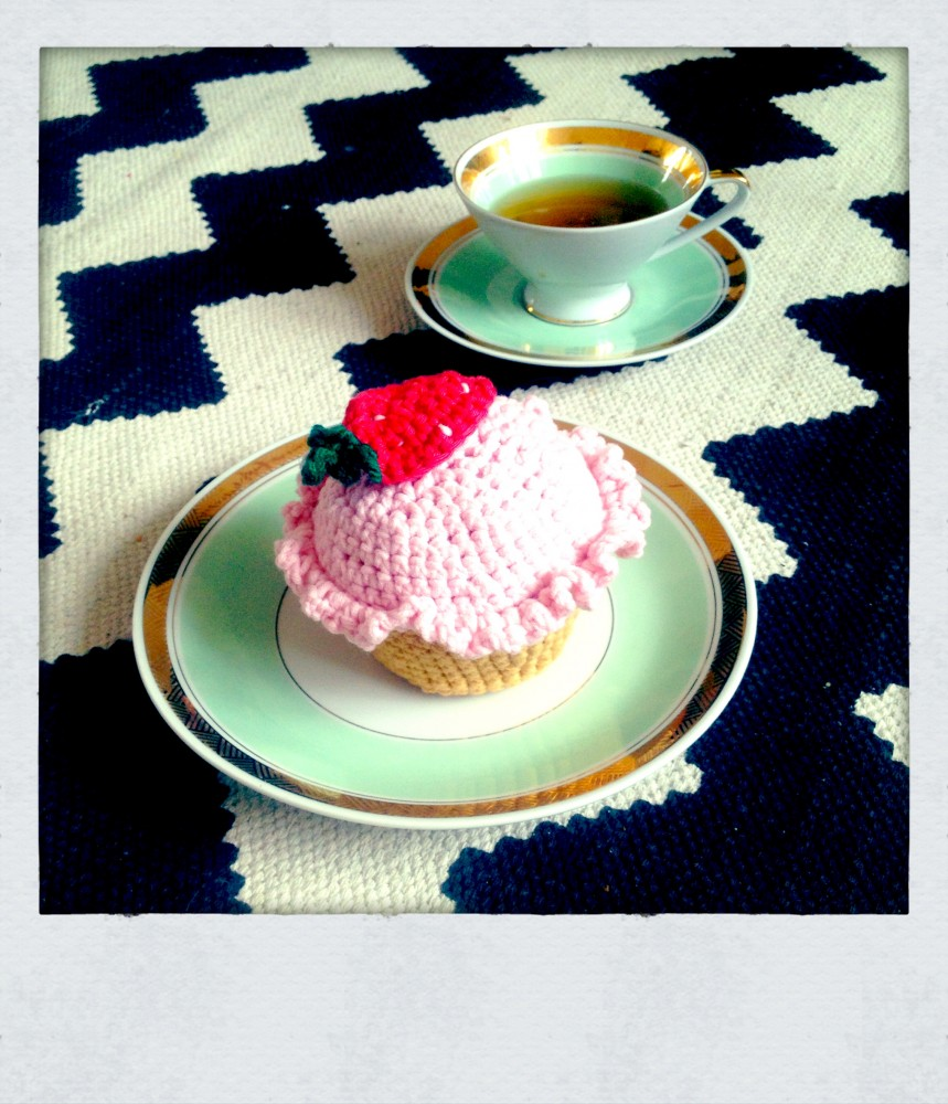 Tea Time Crochet Muffin