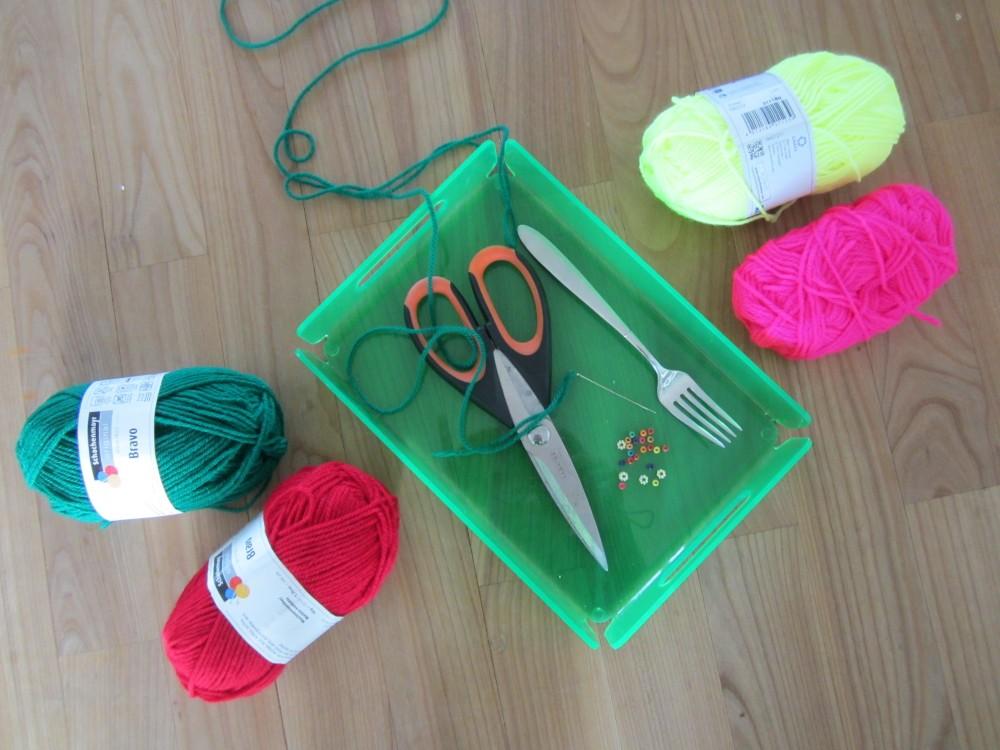 DIY Bommelkette - das Zubehör