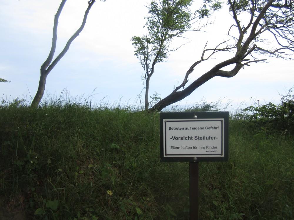 Die Steilküste von Weissenhaus