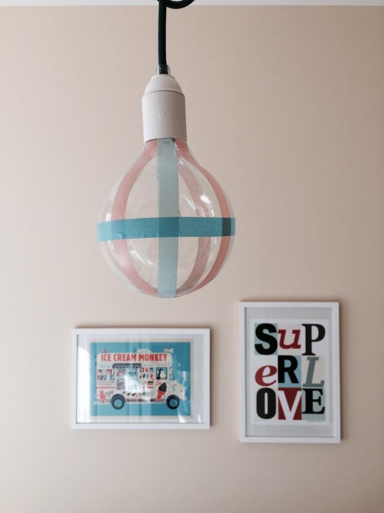 DIY Washi Bulp - Glühbirne mit Masking Tape