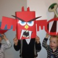 DIY <br> Halloween-Monster-Family