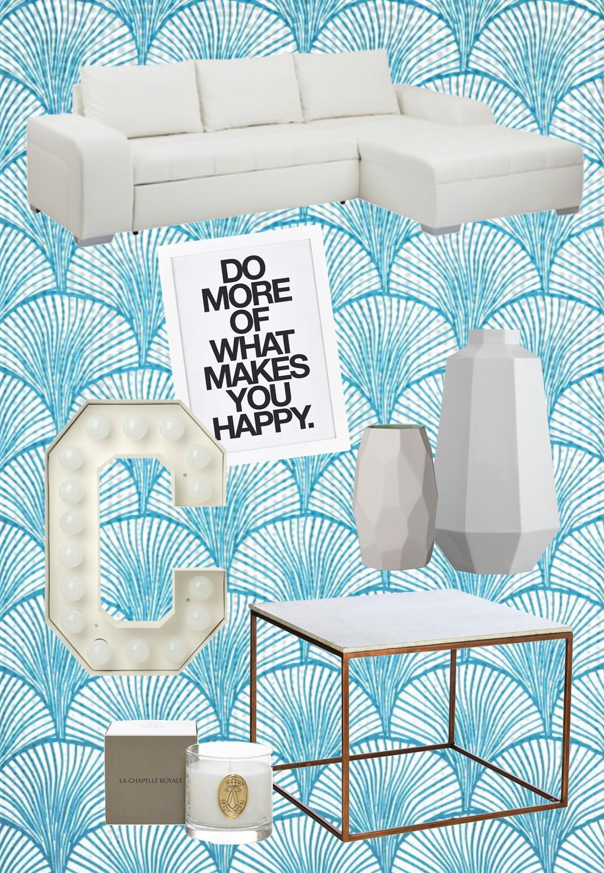 Wishlist Interior Wohnzimmer All White