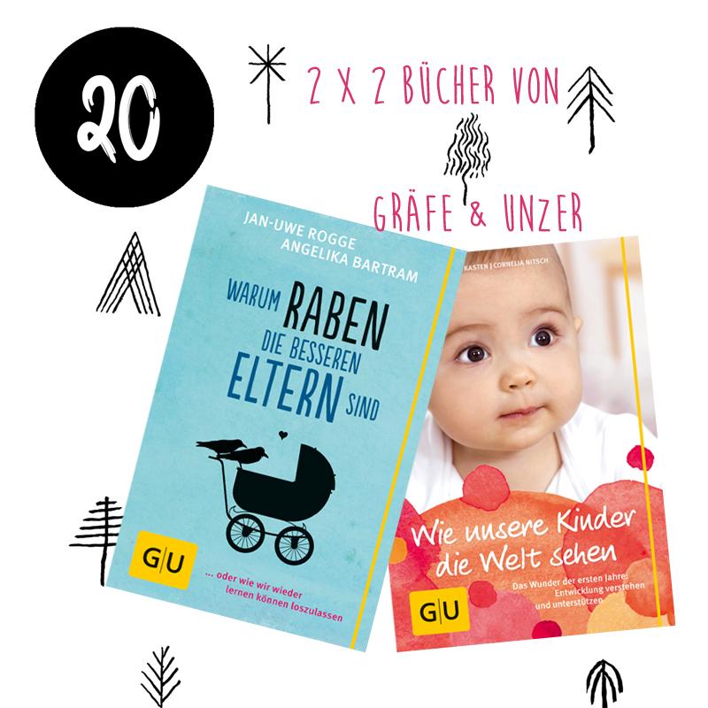 20. Türchen <br> Gewinnt 1 von 2 Baby-Buch-Paketen von Gräfe & Unzer