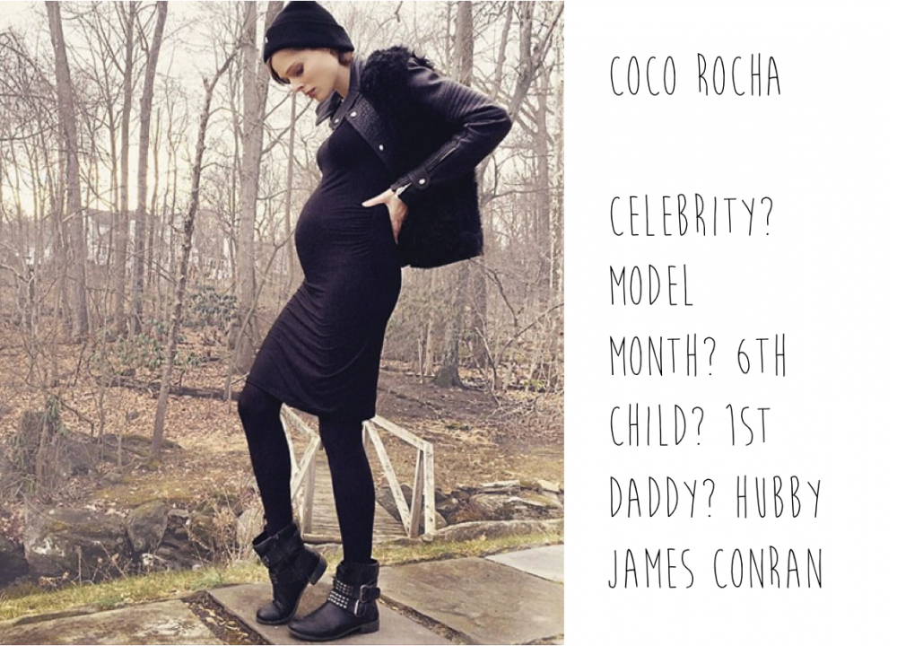 Pregnant Coco Rocha spotted by Mummy Mag
