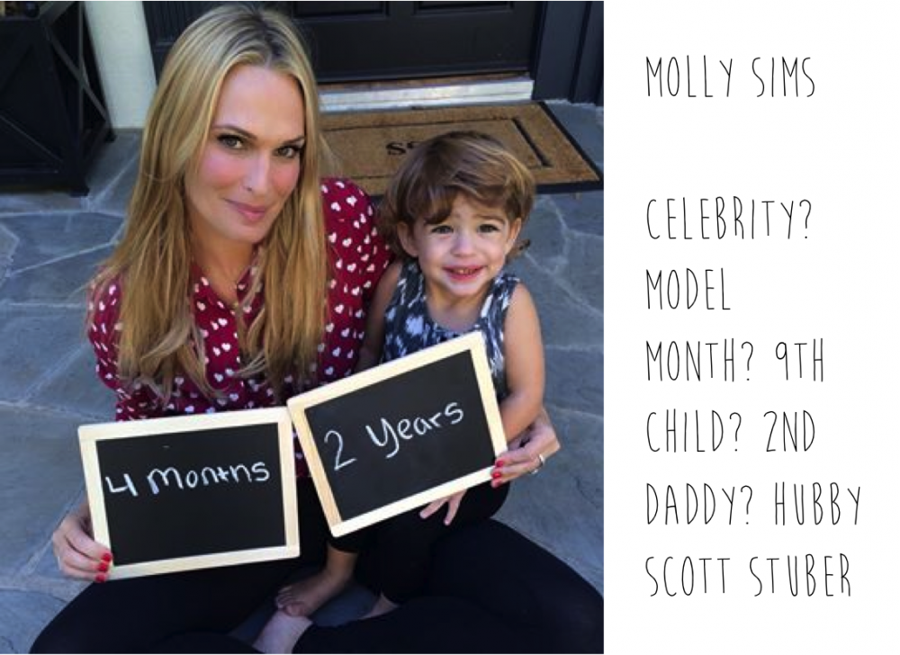 Pregnant Molly Sims spotted by Mummy Mag