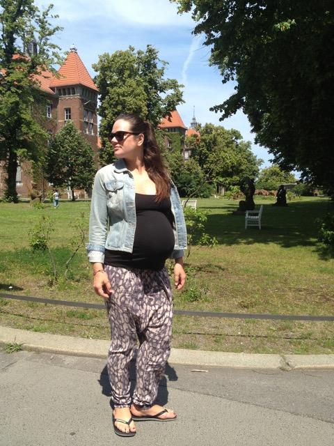 camilla kurz vor der Entbindung im Krankenhaus