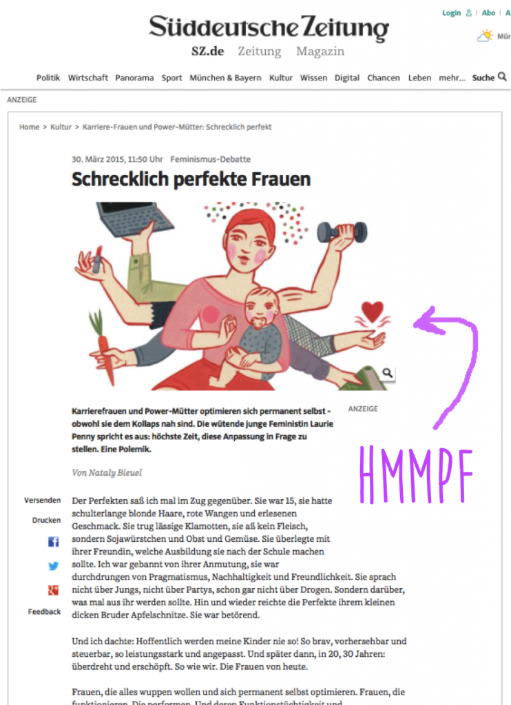 EinsZweiDrei_Schrecklich Perfekte Frauen der SZ diskutiert bei Mummy Mag