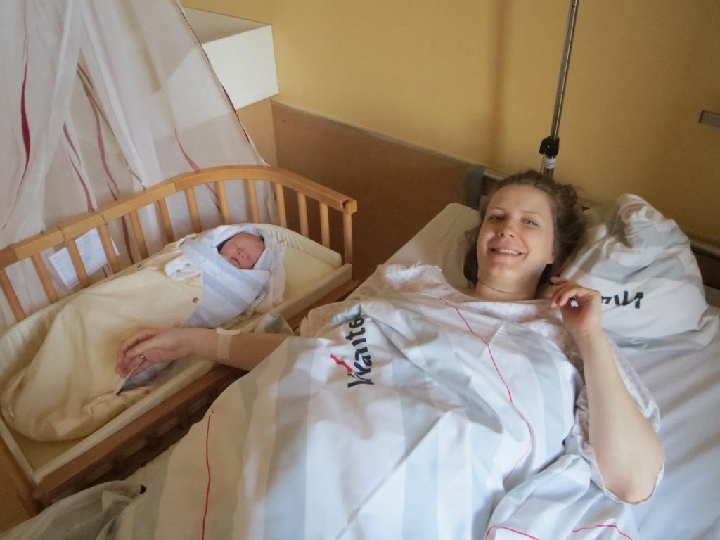 Gast Mummy Christin kurz nach der Geburt