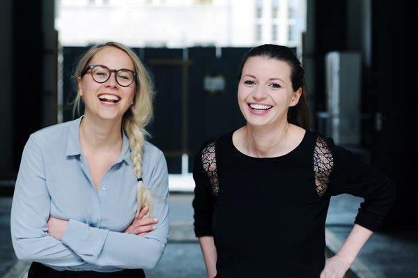 EDITION F-Gründerinnen Susann Hoffmann und Nora-Vanessa Wohlert (Credit: Jennifer Fey)