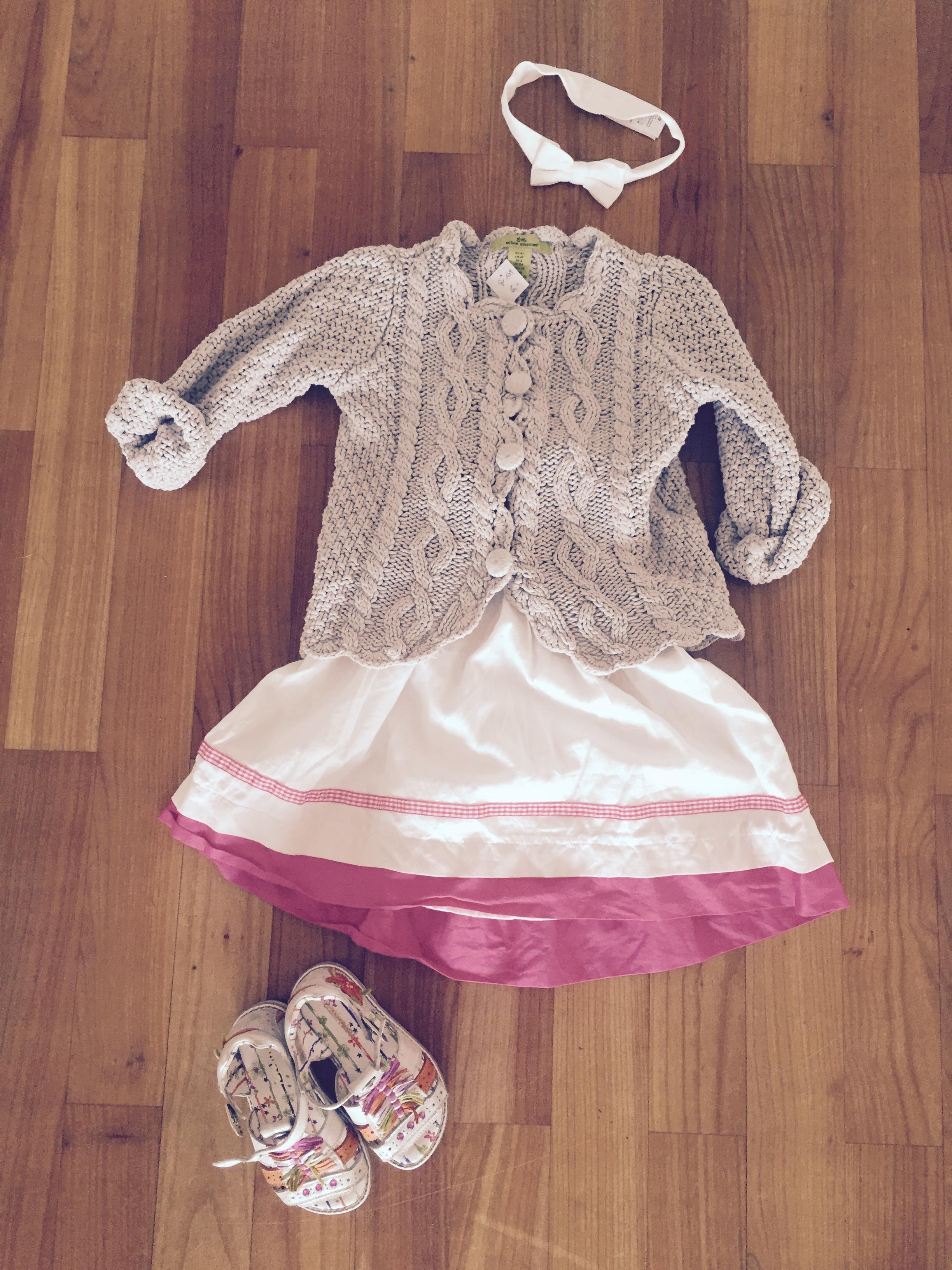 Strickjacke und Baumwollkleid - Low Budget Summer Outfit bei Mummy Mag