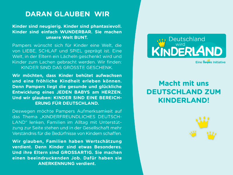 Manifest Pampers Initiative / Deutschland wird Kinderland