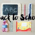 """""""Back to School"""" <br> Ich packe in meinen Rucksack…"""