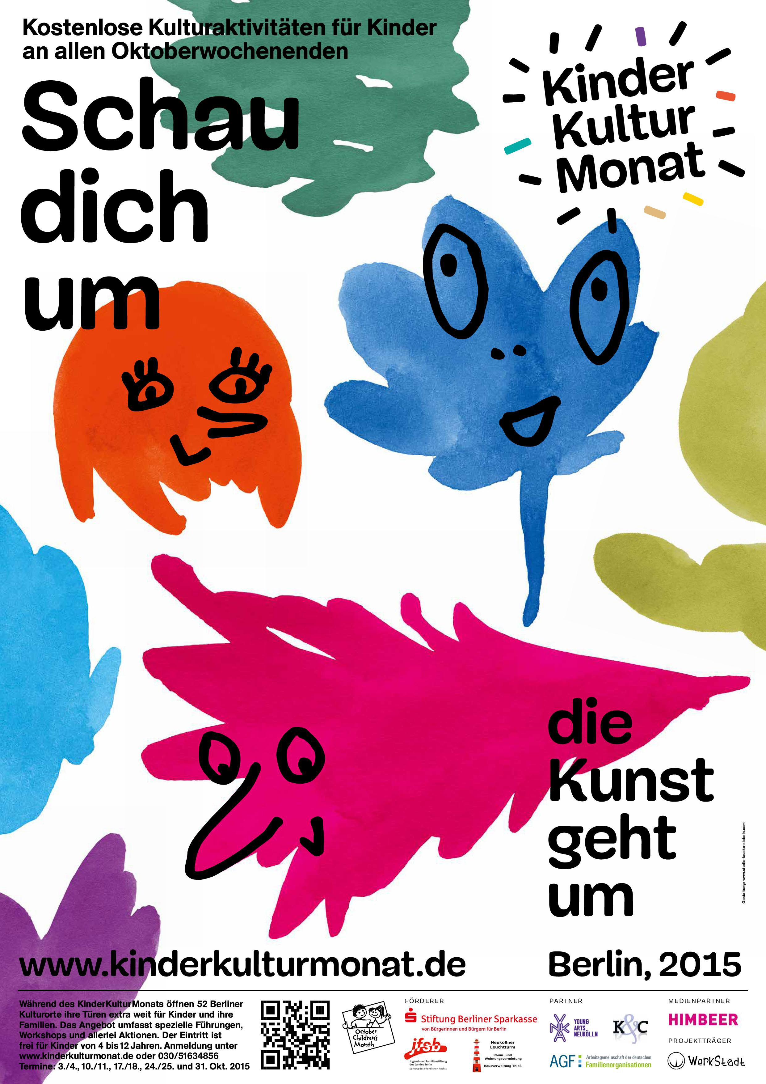 KinderKulturMonat 2015 Offizielles Plakat