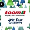 3. Türchen <br> Gewinnt einen 200,- Euro <br> Shopping-Gutschein von toom