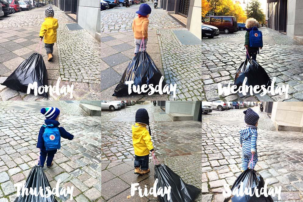 Philo_Diary_Days_Kind bringt den Müll raus