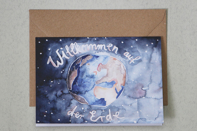 Geburtskarte Erde Gretas Schwester