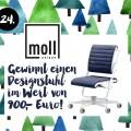 24. Türchen <br> Gewinnt einen MOLL Designstuhl für Kinder