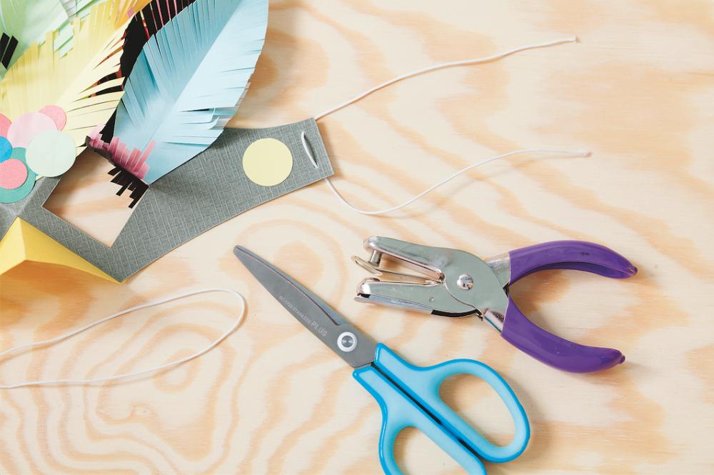 Basteln Maske DIY Andrea Potocki Basteln mit der Maus
