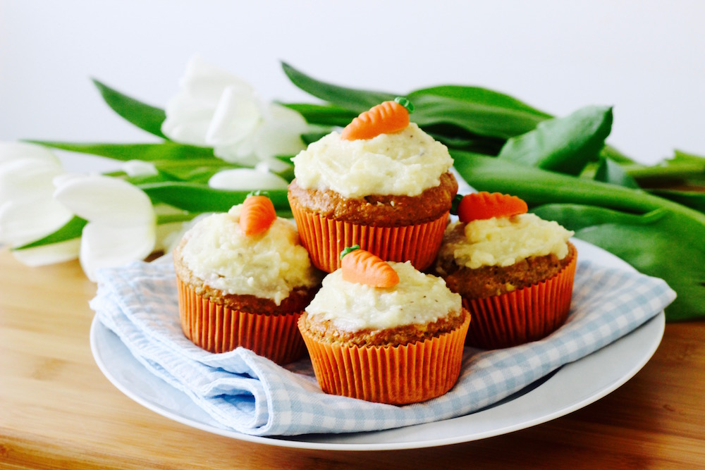 Osterspecial <br> Möhrenmuffins mit Cream Cheese Frosting