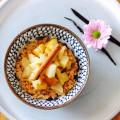 Dinkel-Kokos-Dessert mit Birnenkompott