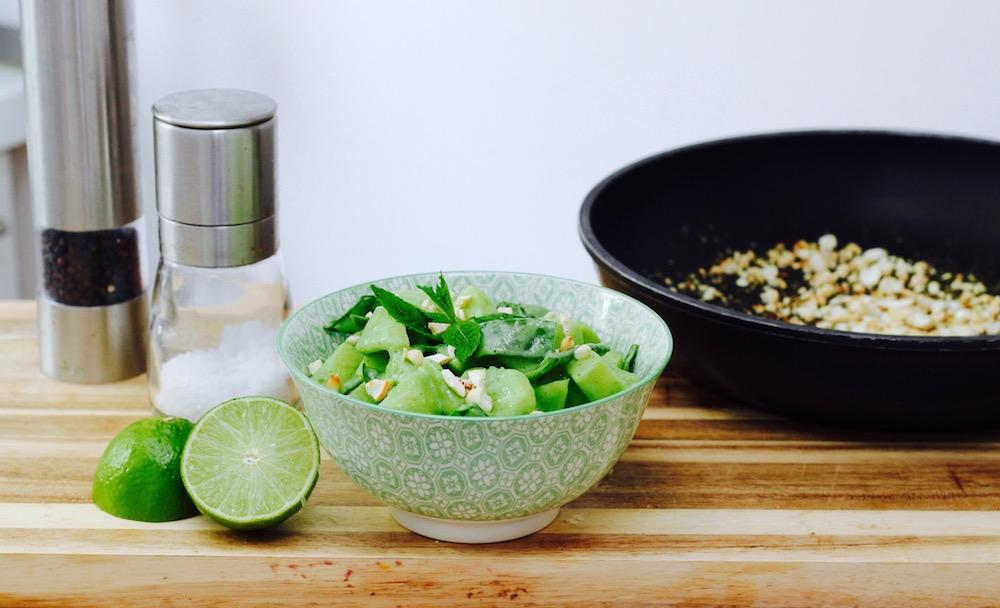 Grüner Kartoffelsalat (vegan)