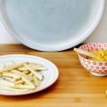 Pastinaken-Pommes mit Orange-Ingwer-Hummus