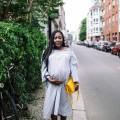 stylethebump Kleid, Tasche und Schuhe : GANNI