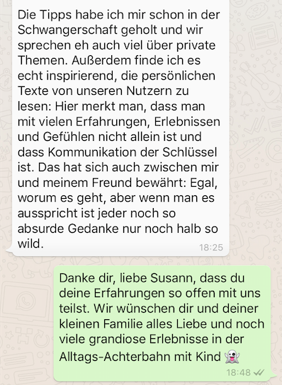 Susann Hoffmann EDITION F WhatsApp Interview Wochenbett Mummy Mag