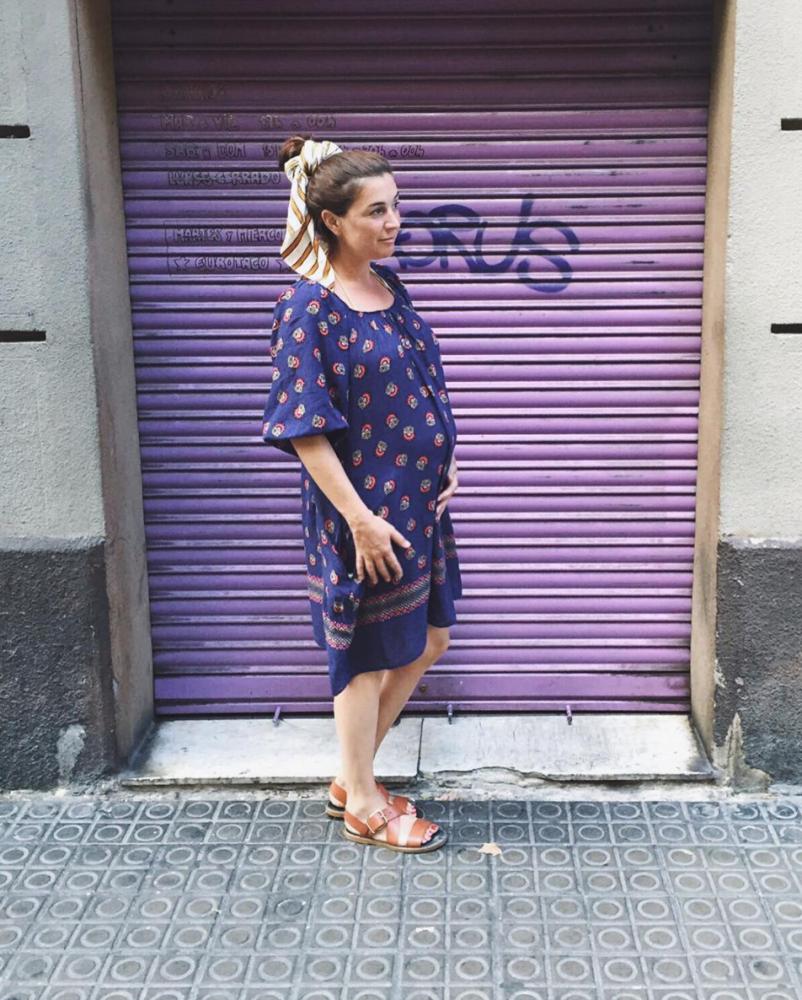 Janine Dudenhoeffer schwanger stylethebump Sommerkleid