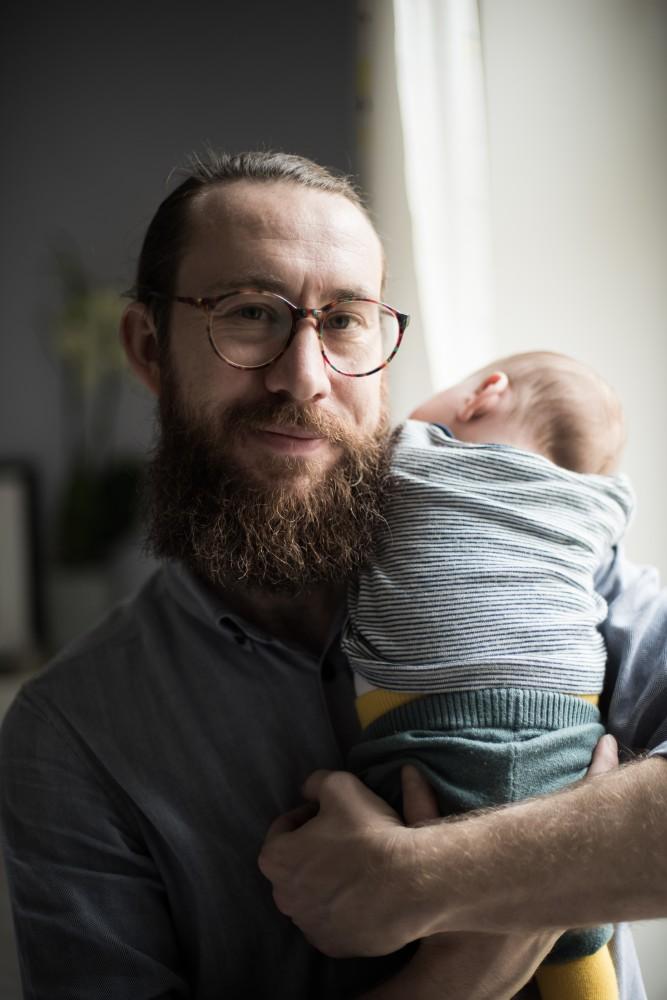 Waldemar Zeiler Einhorn Daddy mit Sohn