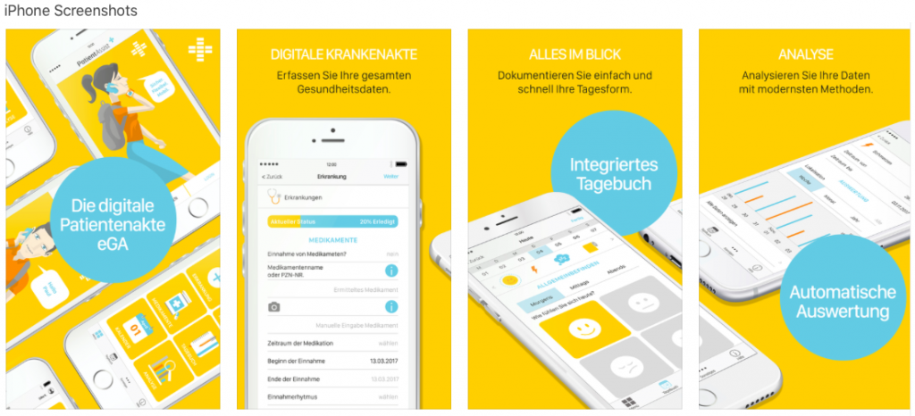 Screenshot der App PatientAssist im Apple App-Store