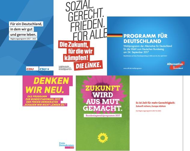 #aufdentischhauenfuerhebammen - Parteiprogramme 2017-2021
