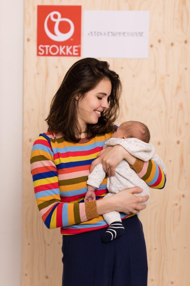 Stokke Rebecca Spielberg MyRiveGauche mit Baby Leo