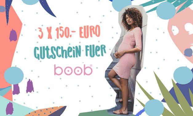 MUMMY WEEK <br> Gewinnt 3 Gutscheine vom Pregnancy Label BOOB im Wert von je 150,- Euro