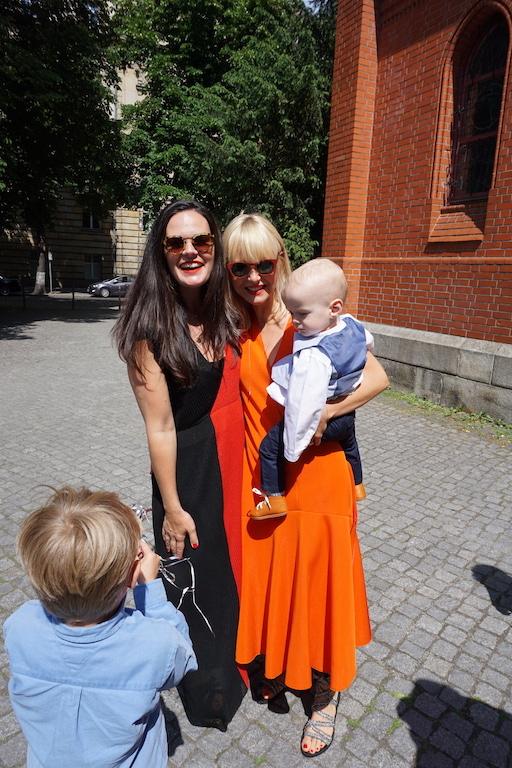 Camilla Rando und Saskia Hilgenberg bei der Taufe