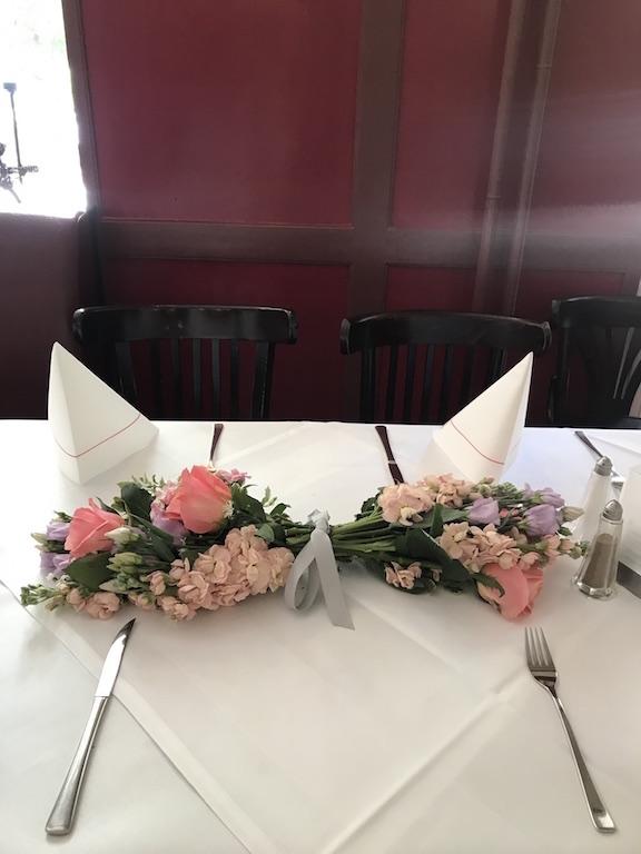 Tischschmuck Blumen zur Taufe Bloom&Wild