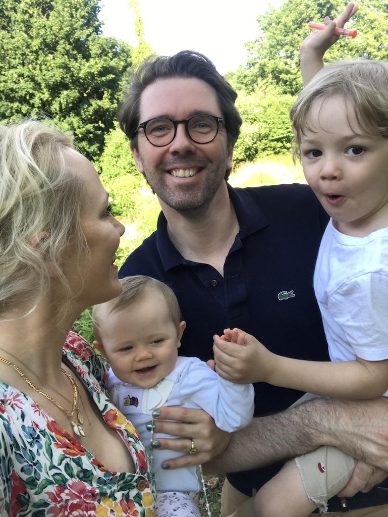Kate gelinsky mit Mann und Kindern
