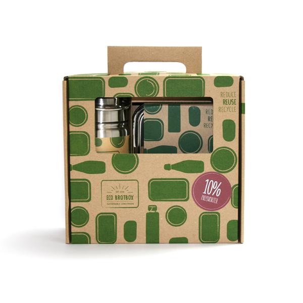 Eco-Brotbox für Schulkinder als Starter-set