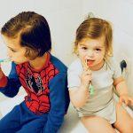 Hin und her, hin und her <br> Zähne putzen ist nicht schwer…