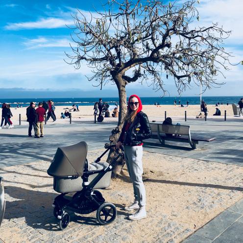 madeleine mit dem bugaboo in barcelona