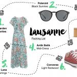 Lausanne Packing List <br/> für eine Reise in die Schweiz