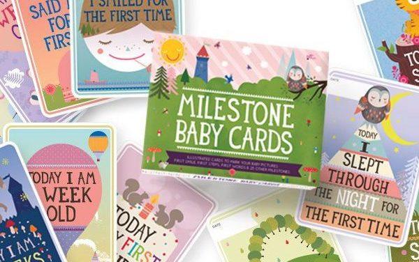 Milestone Cards um schönste Baby-Momente festzuhalten