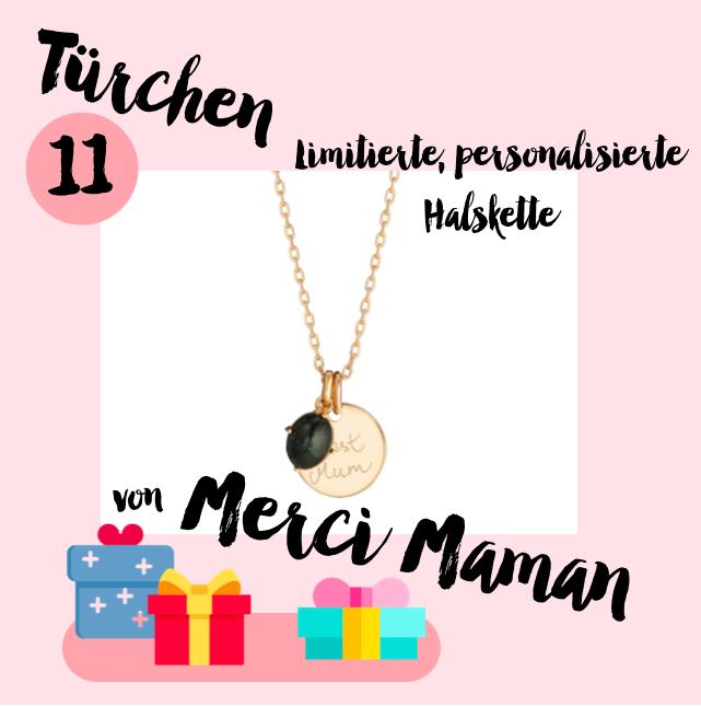 MM Adventskalender <br> Türchen 11 <br> Limitierte & personalisierte Halskette von Merci Maman